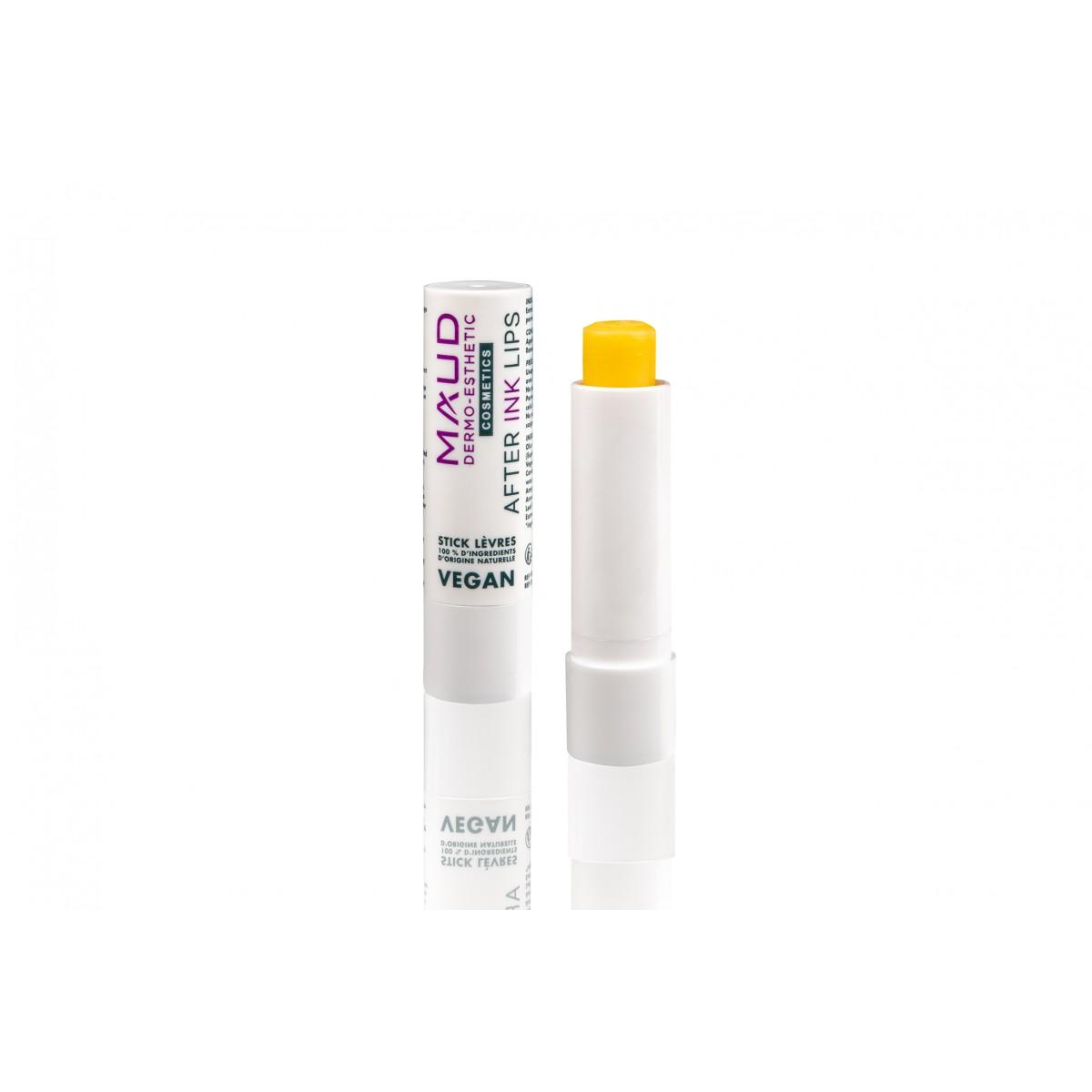 Soins maquillage permanent - MAUD COSMETICS - STICK CICATRISANT DERMOPIGMENTATION LIVRES AFTER INK LIPS VEGAN (4 g)