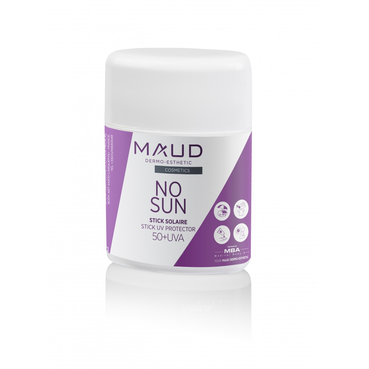 Soins maquillage permanent - MAUD COSMETICS - STICK PROTECTION SOLAIRE MAQUILLAGE PERMANENT NO SUN UV50+ (10 g)
