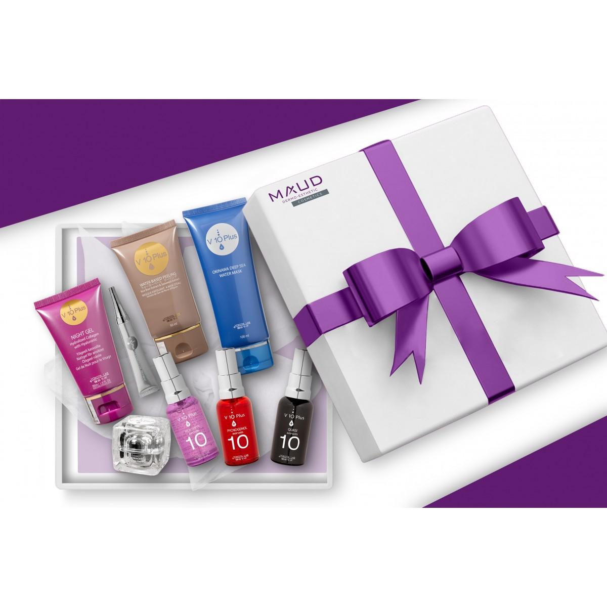 Coffrets Cadeaux - V10 PLUS - COFFRET ABSOLU ILLUMINATEUR DE TEINT PEAU MATURE V10+