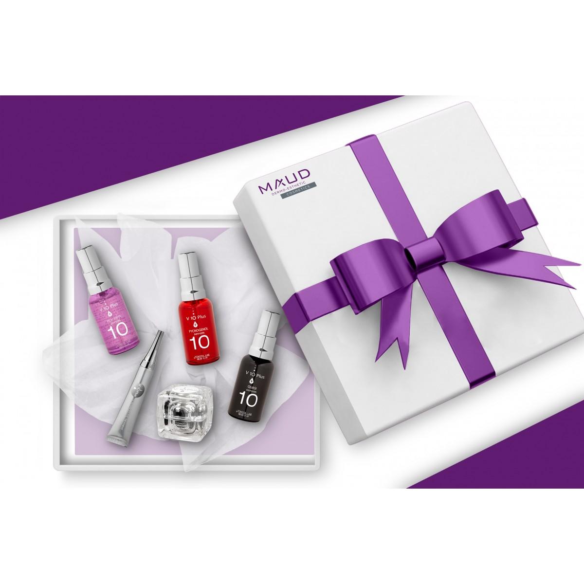 Coffrets Cadeaux - V10 PLUS - COFFRET ESSENTIEL ILLUMINATEUR DE TEINT PEAU MATURE V10+